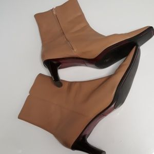 Camel Color Ankle Boots